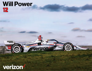 Team Penske Will Power Autograph Card